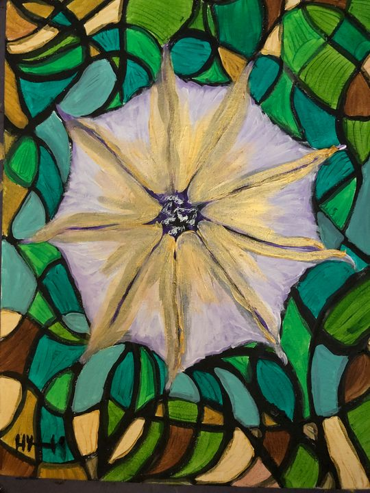 Moonflower Stained Glass Impression - Ellie Varro
