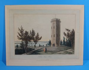 Nelson's Tower,Forres by Wm Daniell