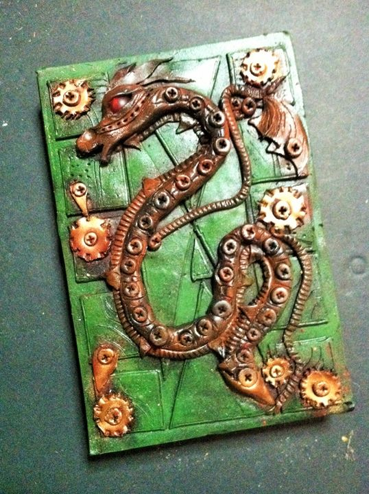 SteamPunk Journal cover - Pulze Studio