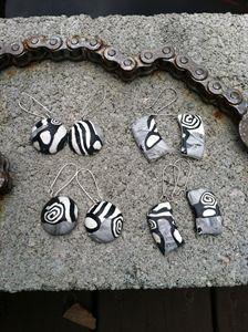 Abatract polymerclay earrings - Pulze Studio