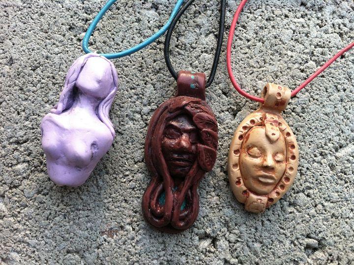 Hand sculpted pendants. - Pulze Studio
