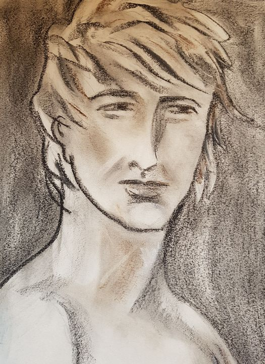 Wind in his hair - ART Prints, paintinga & drawings