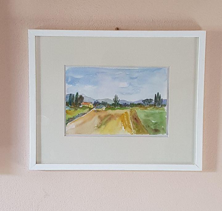Little countryside watercolour - ART Prints, paintinga & drawings