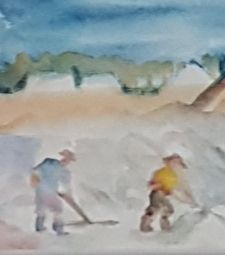 salt miners sicily - ART Prints, paintinga & drawings