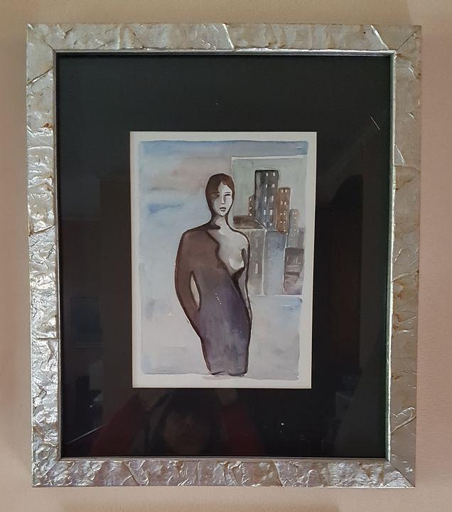 Metropolitan lady - ART Prints, paintinga & drawings