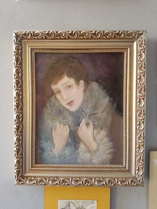 A lady - ART Prints, paintinga & drawings