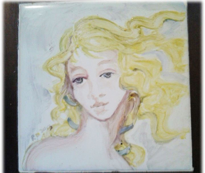 Angel tile Trivet - ART Prints, paintinga & drawings