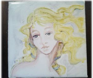 Angel tile Trivet