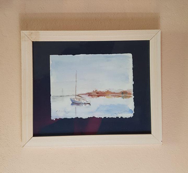 Boat on the lake - ART Prints, paintinga & drawings