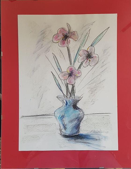 Flowers in a vase - ART Prints, paintinga & drawings