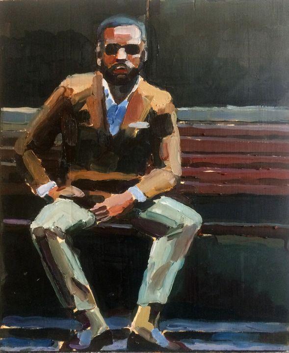 Man on the Bench - Tereza Strnad