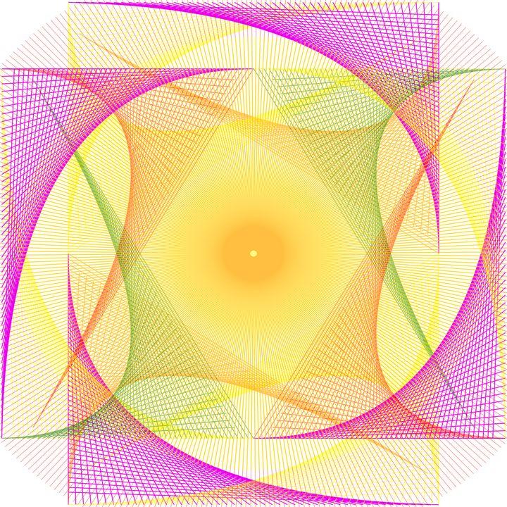Abstract Digital String Art - TerryficArt