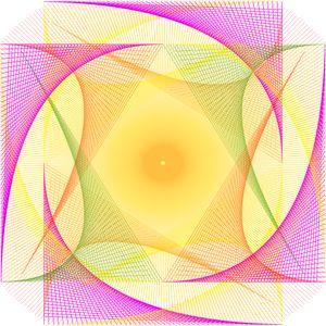 Abstract Digital String Art