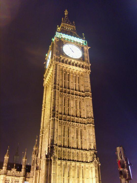 Big Ben Clock Tower at night - TerryficArt