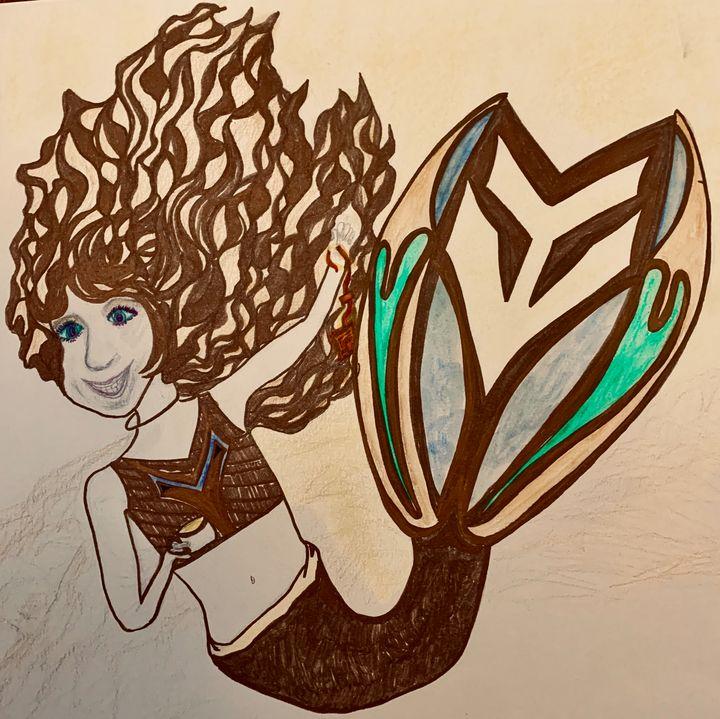Mermaids drink tea - C.Finn