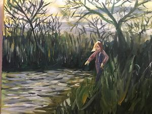 Girl at Pond