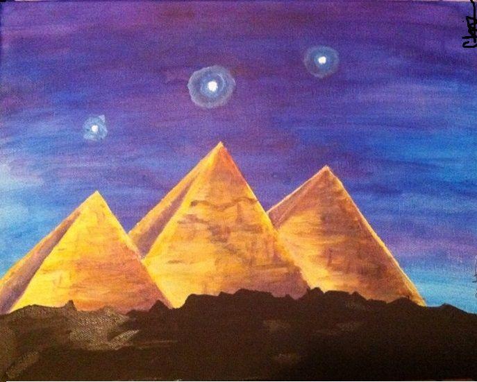 Pyramids of Giza - Christine