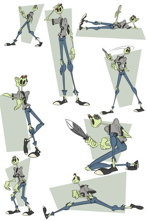 Zomboy action poses - Kenan Meyers (InkdKen)