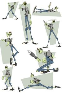 Zomboy action poses