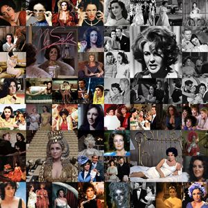Elizabeth Taylor Career Collage