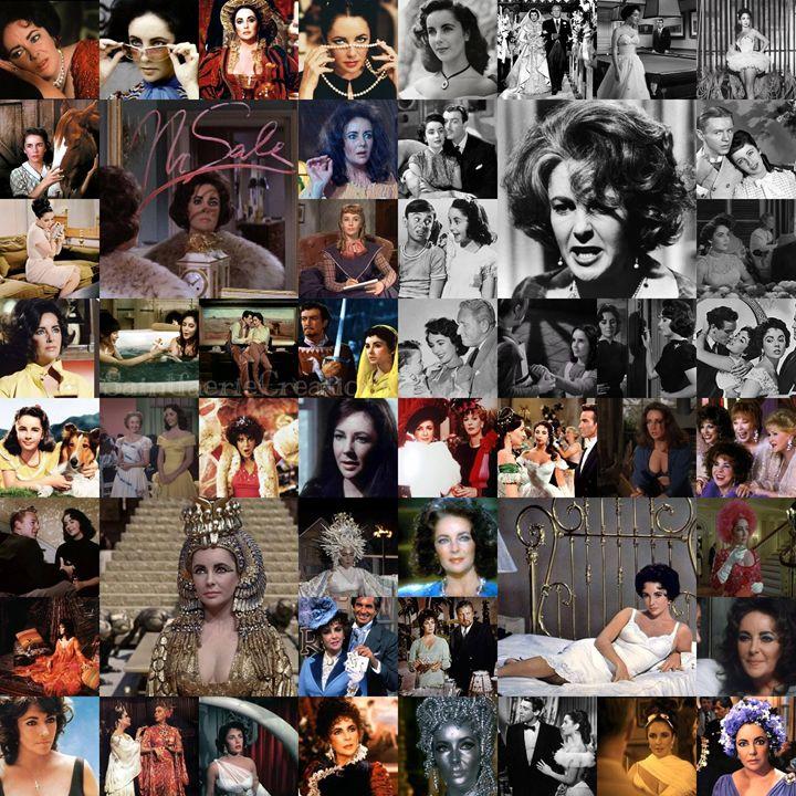 Elizabeth Taylor Career Collage - SaintfaerieCreations