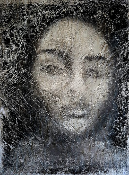 Old photo crumpled girl (n.230) - Alessio Mazzarulli