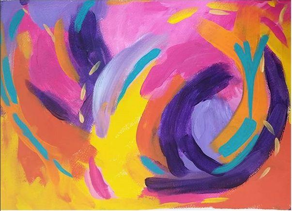 Blurple Swirl - Shannon's Vibrant Art