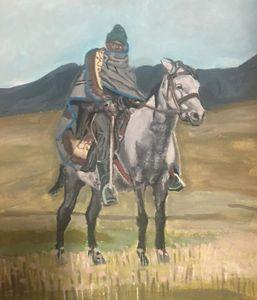 Basotho Pony With Traditional rider