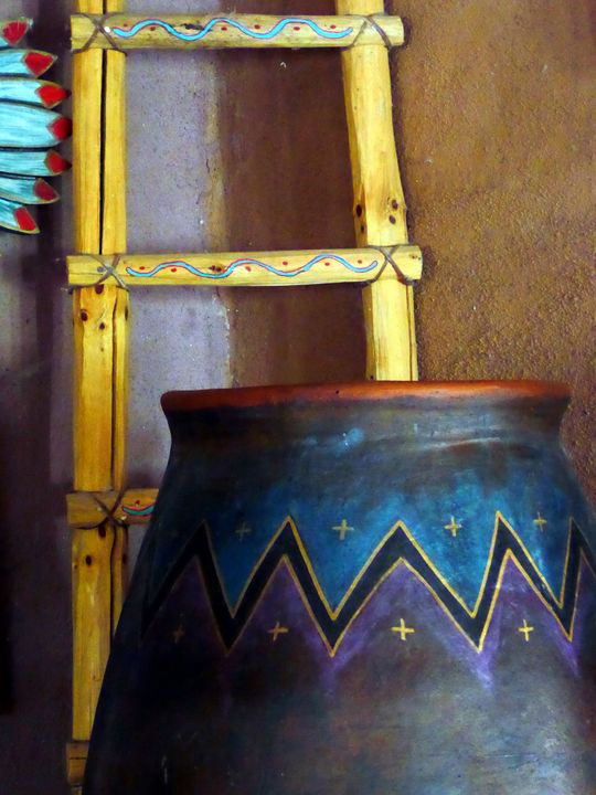 Ladder and Pot - Original Works by Colleen Hennessy