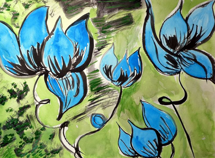 Blue Blossoms - Original Works by Colleen Hennessy
