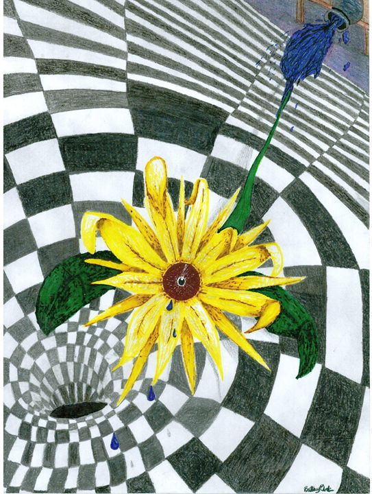 Sadness of a Sunflower - B.A.D.ASS <3 art <3
