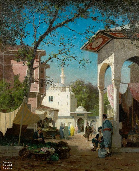 Osmanlı dönemi İstanbul'da karpuzcu, - Osmanlı Dönemi İstanbul Tabloları