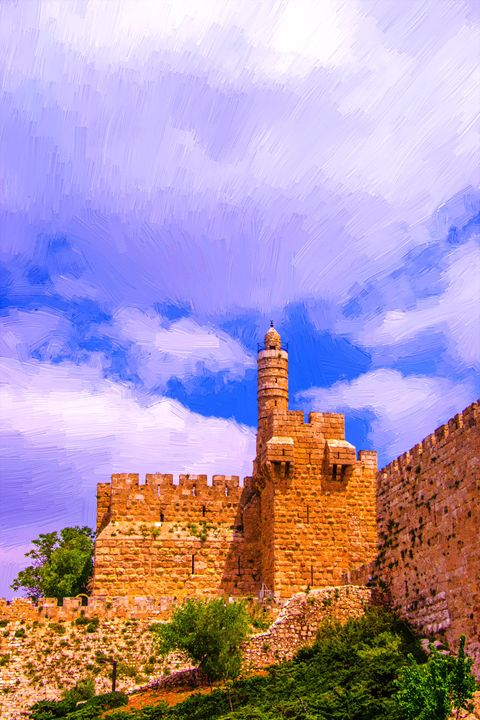 David`s tower-symbol of Jerusalem - slavamalai