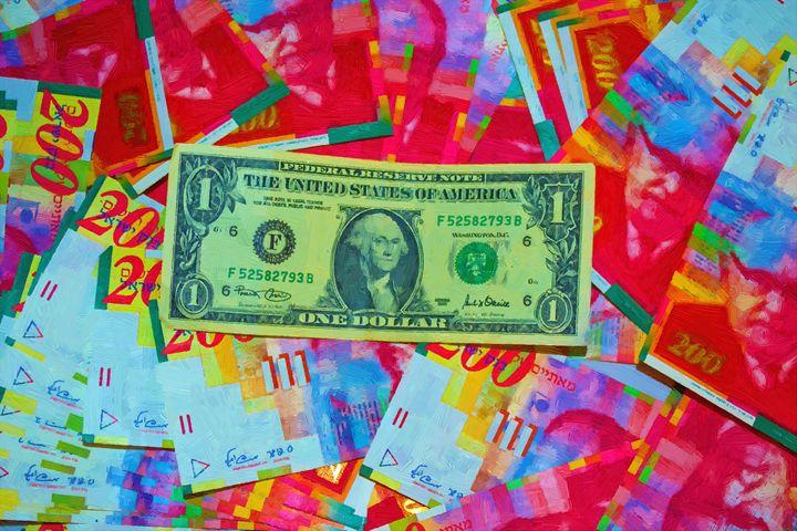 One dollar on israeli shekel - slavamalai