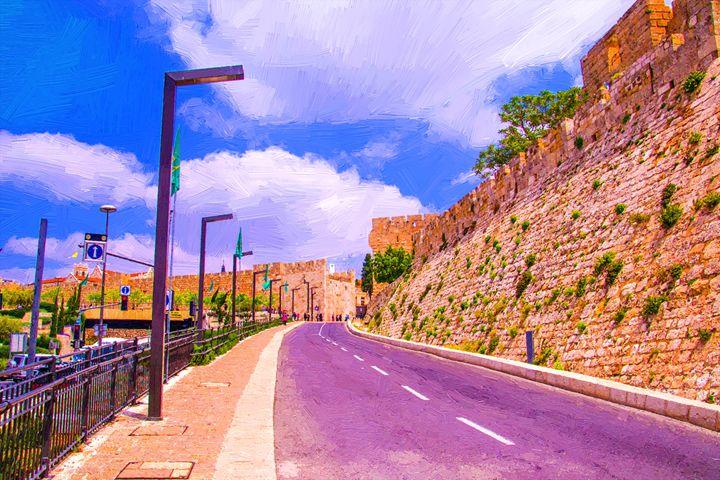 The wall of old Jerusalem - slavamalai