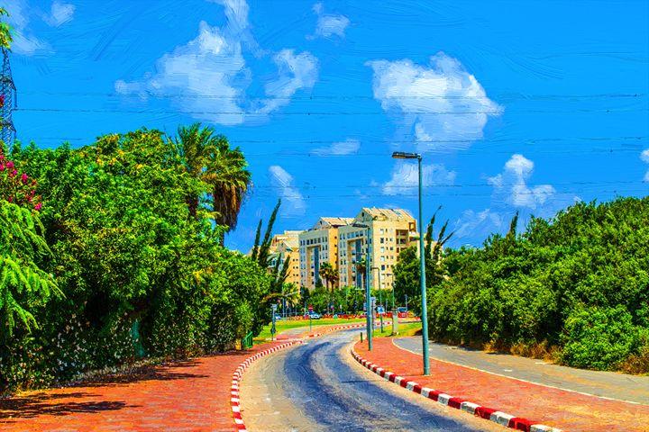 View of Tel Aviv street - slavamalai