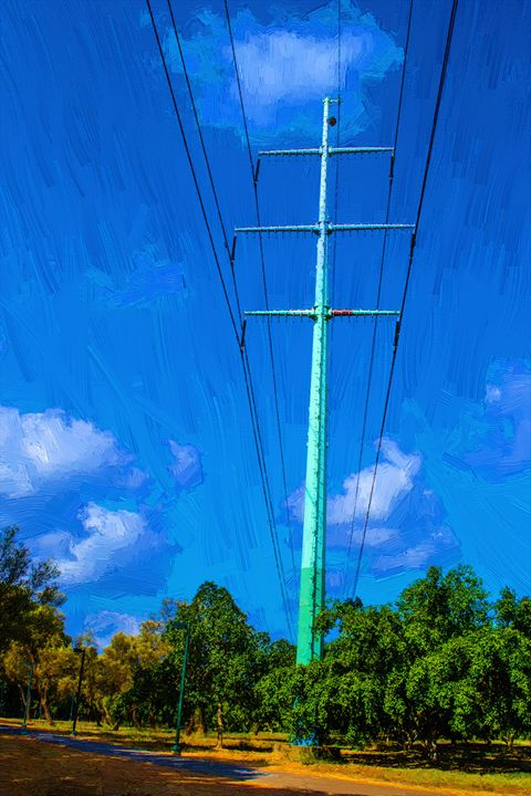 Wires of electricity transmissions - slavamalai