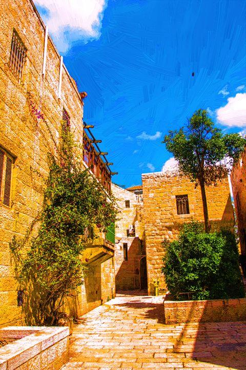 Narrow streets of old city. - slavamalai