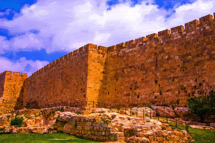 The wall of old Jerusalem - slavamalai