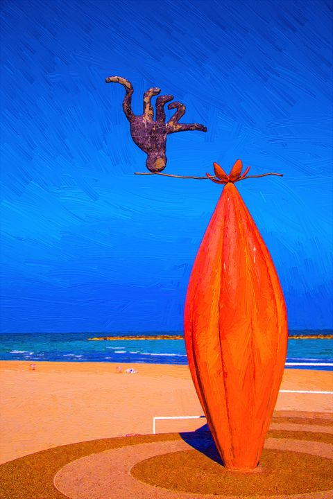 Statue on a beach - slavamalai