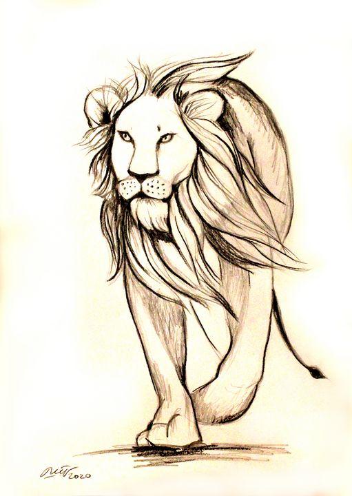 Walking lion - Loi Hong Diep art