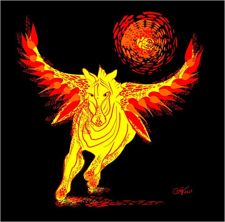 Flying horse - Loi Hong Diep art