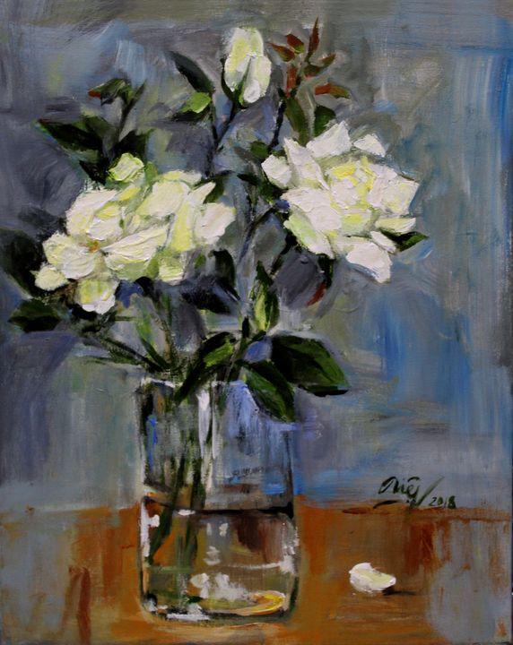 White roses - Loi Hong Diep art