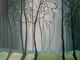 16X20 Wondrous Misty Forest