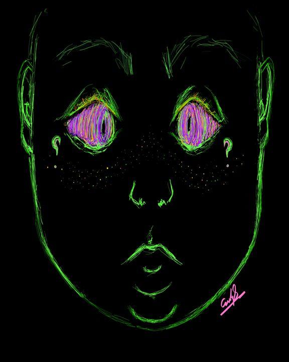 Cross eyed freckled alien - Environmental Manipulations