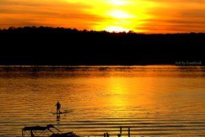 Paddleboarding Lake Wylie - Art by FreeBird