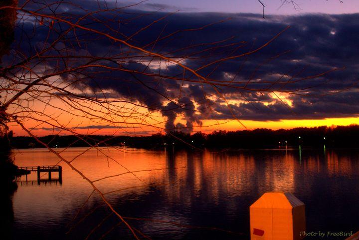 Lake Wylie Cold November Day - Art by FreeBird