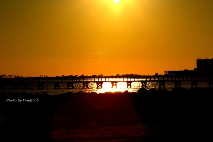 Biloxi Sunset - Art by FreeBird