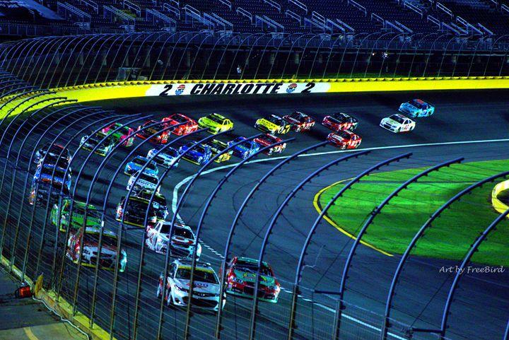 NASCAR Charlotte - Art by FreeBird