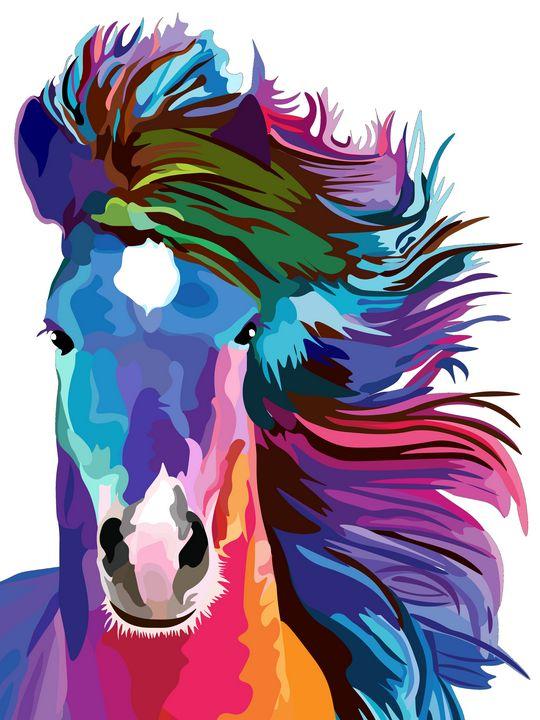 rainbow horse - Ancello